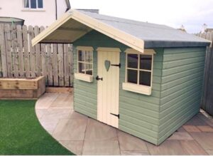 Custom painted shed