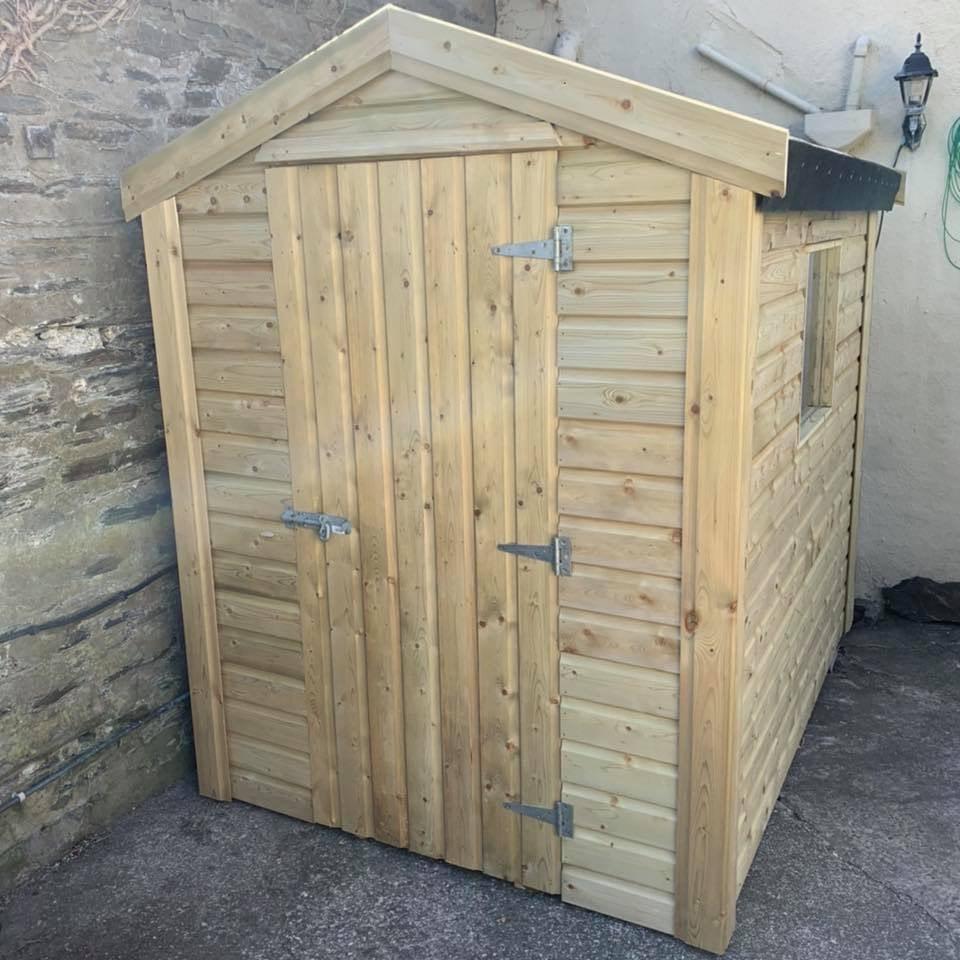 Single door apex shed