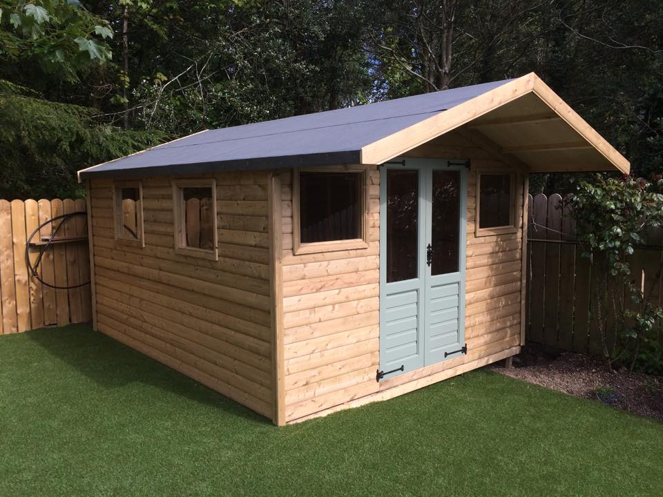 12x10 tanalised logboard Summerhouse