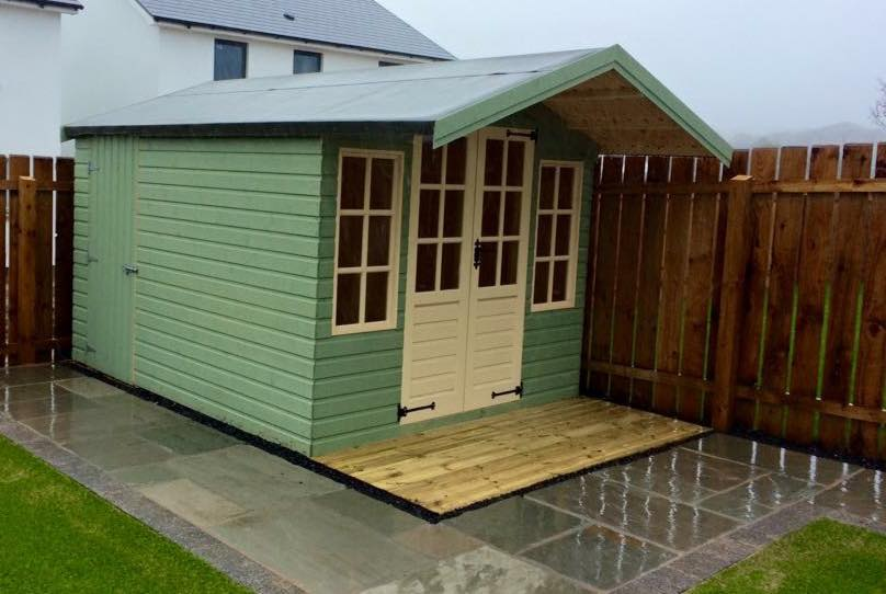 Custom painted summerhouse shed