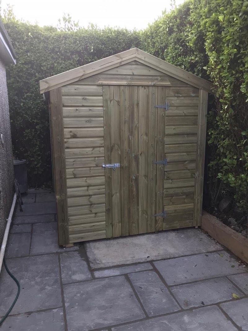 Single Door Apex A1 Shed